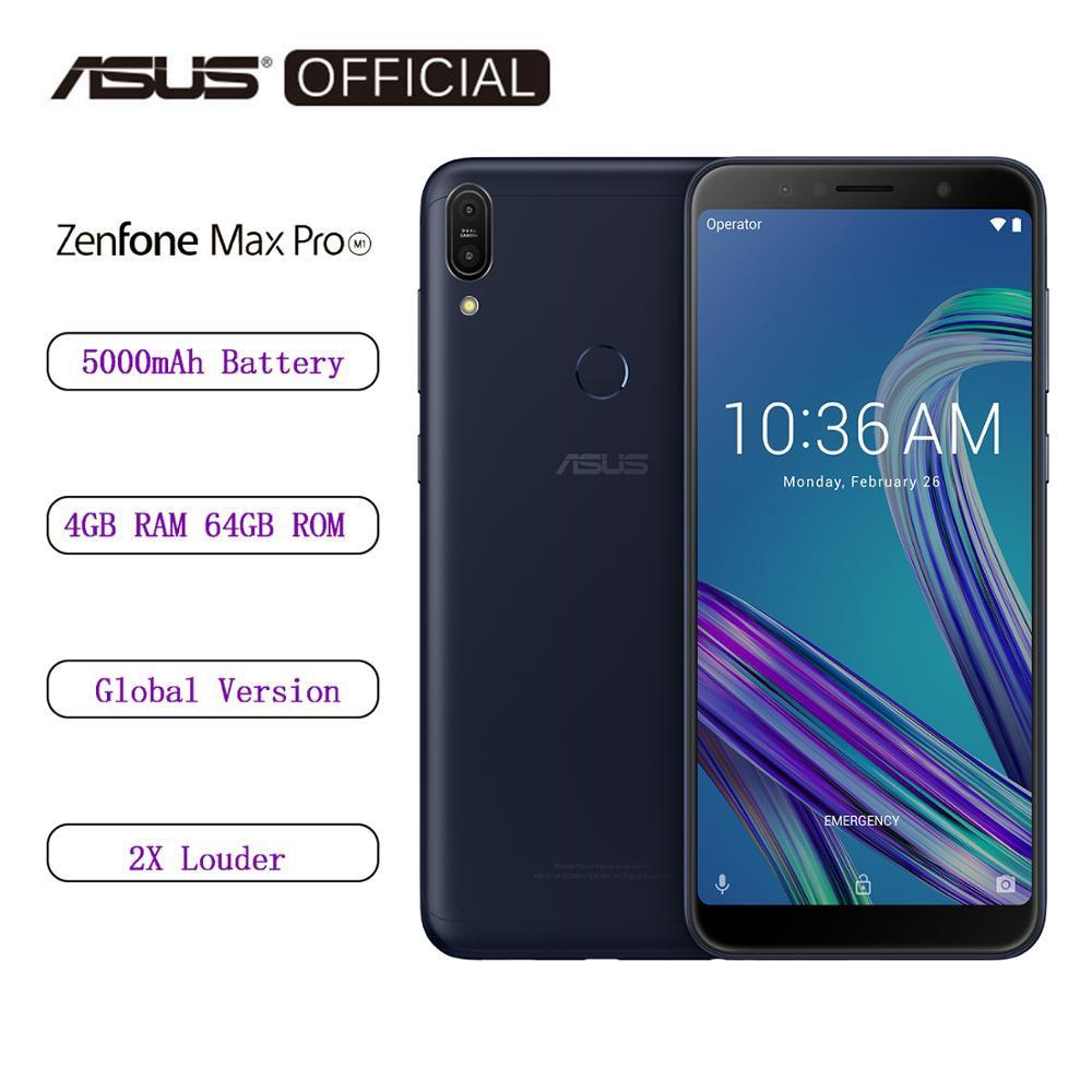 Asus ZenFone Max Pro (M1) ZB602KL versión Global SnapDragon 636 Android 8,1 4GB 64GB 6 pulgadas 18:9 FHD + teléfono identificación facial 5000mAh Versión Global Lenovo K5 Pro 64GB Snapdragon 636 Octa Core Smartphone Quad cámaras 5,99 pulgadas 4G LTE teléfonos móviles 4050mAh