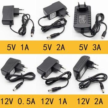1pcs 100-240v ac σε dc Προσαρμογέας τροφοδοσίας Προσαρμογέας φορτιστή 5v 12v 1a 2a 0.5a eu plug 5.5mm x 2.5mm / 5v3adc plug micro usb