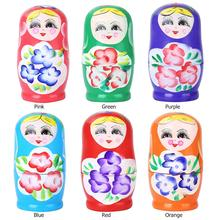 Doll-Set Nesting Wooden 5pcs Baby-Toy Hand-Painted-Decor Matryoshka Russian Novelty Girl