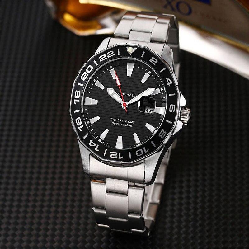 Часы для Для мужчин лучший бренд класса люкс Водонепроницаемый 24 часа дата Кварцевые часы круглые спортивные многофункциональные часы Relogio...