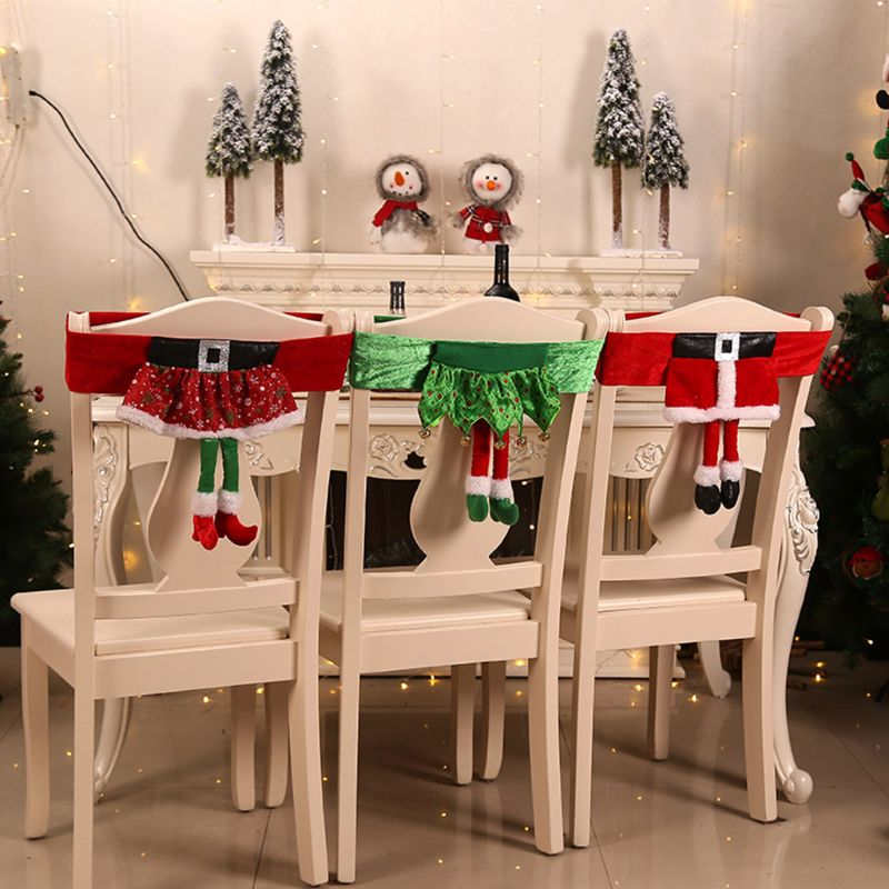 Christmas Chair Back Cover Dinner Table Decoration Home Party Holiday Ornament New Year Supplies Chair Cover Aliexpress