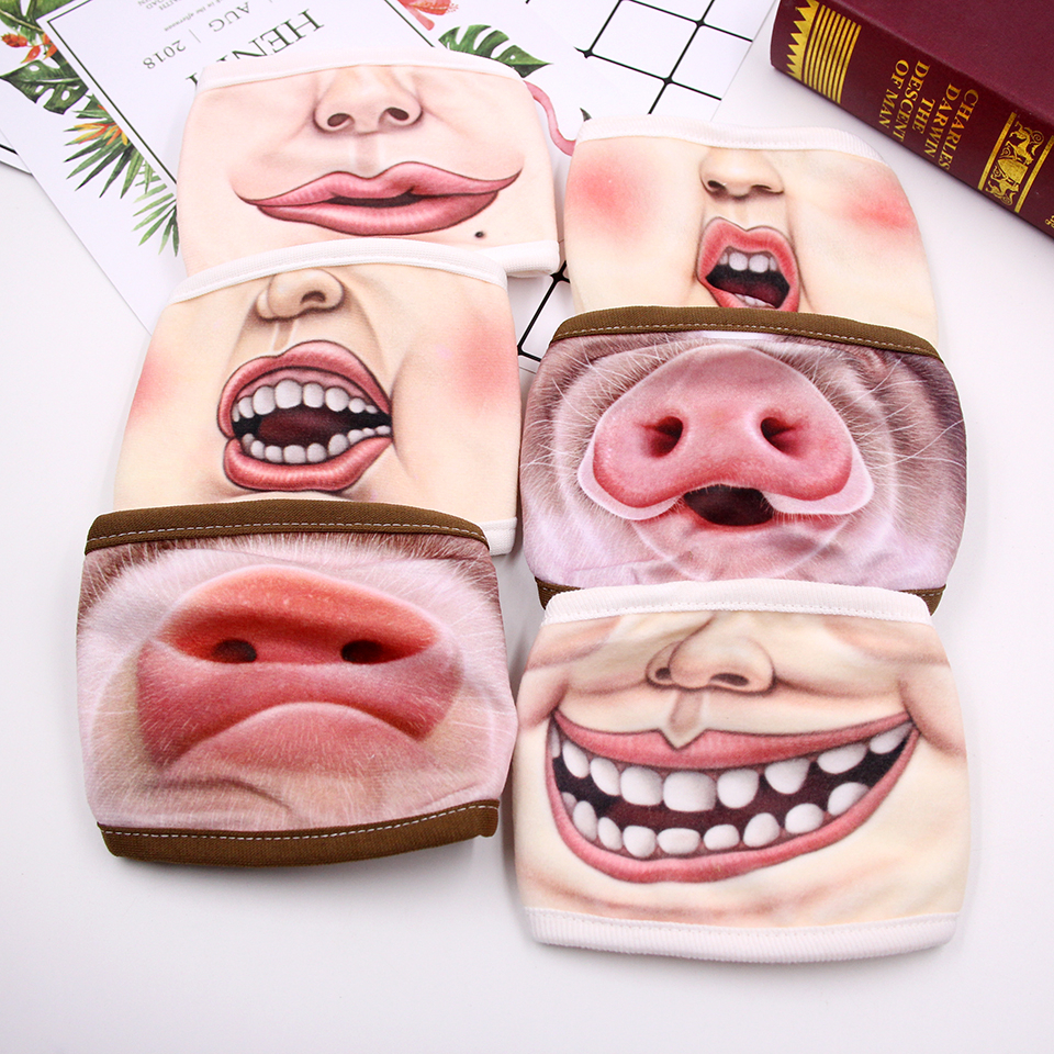Hot! 1PC Funny&Scary Masks Of Half Face Clown Animals Latex/Cotton Mask For Cosplay Costume/ Halloween Party Decoration Supplies