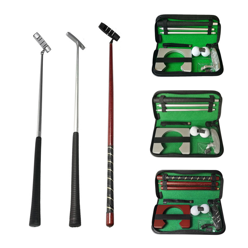 Golf Putter Putting Trainer Set Portable Indoor Training Equipment Golfs Ball Holder Training Aids Tool With Carry Case