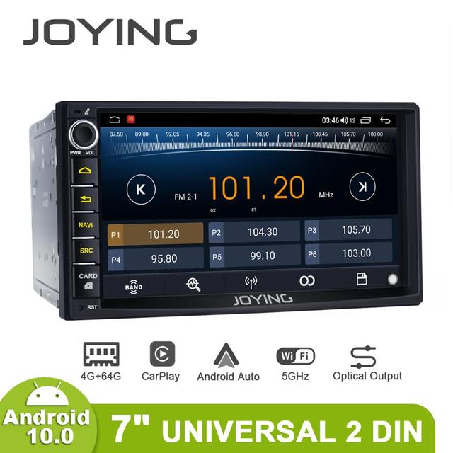 7 inch Car Radio 2din Android 10 Universal Head Unit With Screen Multimedia Navigator 4GB+64GB Autoradio bluetooth 4G Carplay