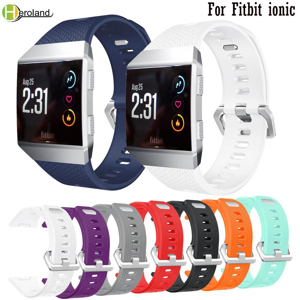 Behua pulseira para fitbit iônico pulseira de relógio esporte bandas pulseira substituição silicone pulseira inteligente para fitbit ionic l/s