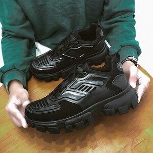 Image 2 - Popular Men Casual Shoes Trainers Male Sapato Masculino Walking Sneakers Krasovki Light Men Shoes Black Tenis Zapatillas Hombre