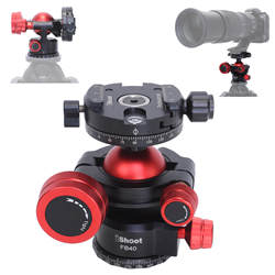 360 Tripod Panoramic Ball Head with Quick Release Clamp for Canon Sony Nikon DSLR Camera, Monopod, Slider, Camcorder, Tripod