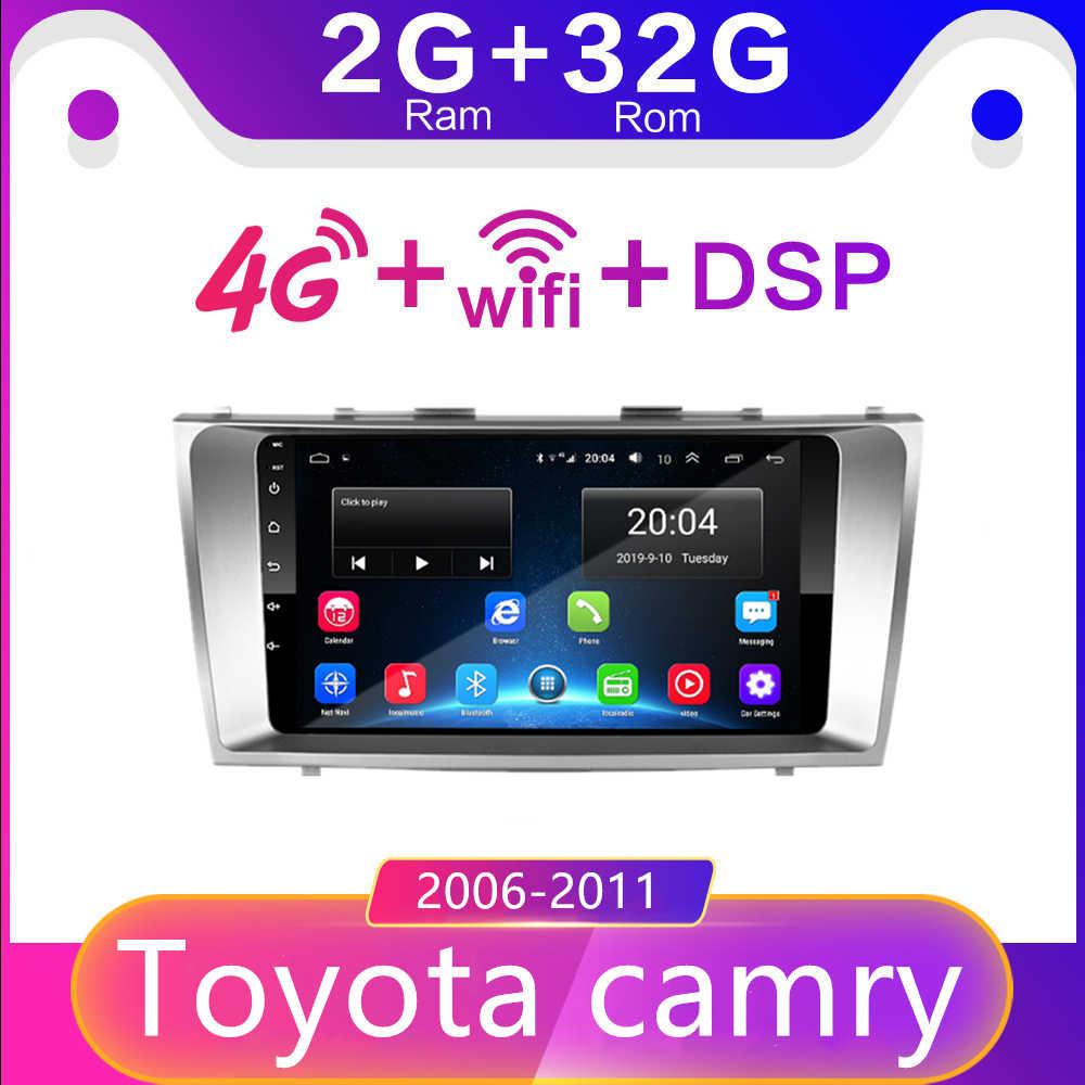 2 din Android 8.1 GO samochód radio odtwarzacz multimedialny dla Toyota Camry 2006 2007 2008 2009 2010 radio samochodowe ramka nawigacyjna gps 4GSIM