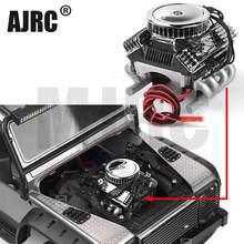 Voiture Rc F82 V8 simuler moteur ventilateurs de refroidissement radiateur pour 1/10 Rc chenille Traxxas Trx-4 Axial Scx10 90046 Redcat Gen8 G500