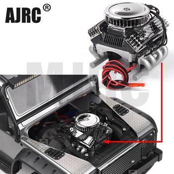 Rc samochodów F82 V8 symulacji silnika silnika wentylatory chłodzące chłodnicy dla 1 10 gąsienica Rc Traxxas Trx-4 osiowe Scx10 90046 Redcat Gen8 G500 tanie i dobre opinie AJRC CN (pochodzenie) Metal Montowane klasy FRAME Silniki Simulation engine Pojazdów i zabawki zdalnie sterowane Kv1100