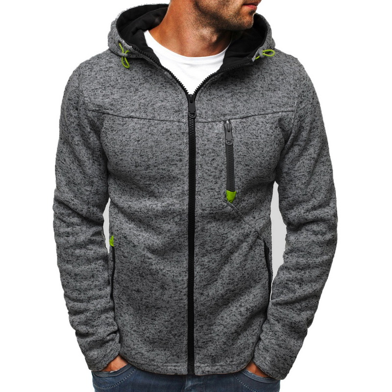 JODIMITTY Men Sports Casual Wear Zipper Fashion Tide Jacquard Hoodies Fleece Jacket Fall Sweatshirts Autumn Coat Hooded Cardigan