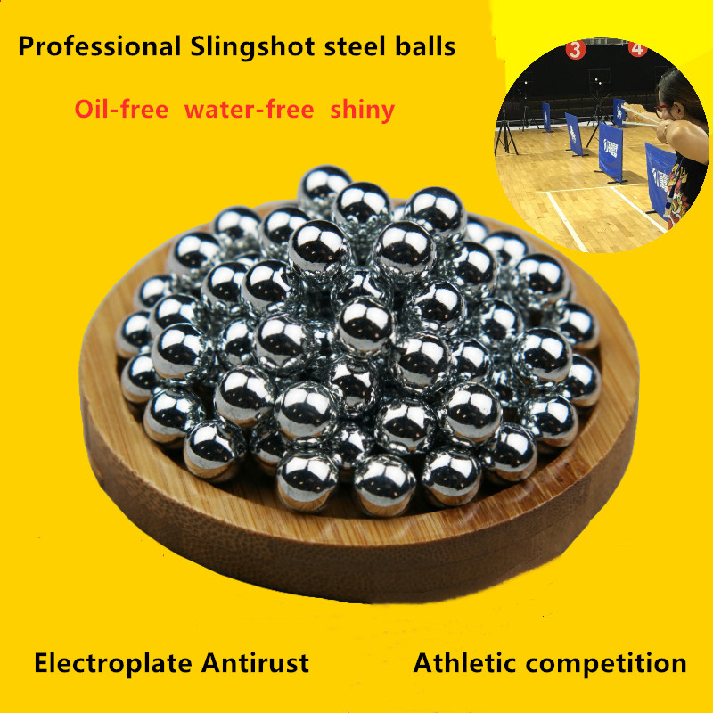 1kg Electroplate Steel Balls 6.35 6.5 7 7.5 8 8.5 9  9.5 10 11 12 Mm Outdoor Hunting Slingshot Ammo Hitting Catapult Steel Ball