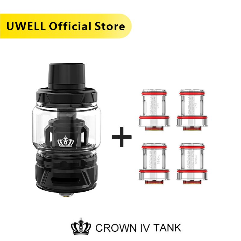 Uwell  Crown 4 Tank With Dual SS904L Coil & Self-cleaning Technology 2ml /6ml  Crown IV Atomizer Subtank  E-cigarette Vaporizer