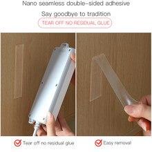 Cinta adhesiva de doble cara para baño, Adhesivo de pared de casa, impermeable, doble cara, Nano sellado, 1/3/5 m