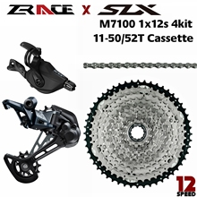 4kit Groupset Cassette Slx M7100 RD-M7100-SGS ZRACE Chains-1x12-Speed