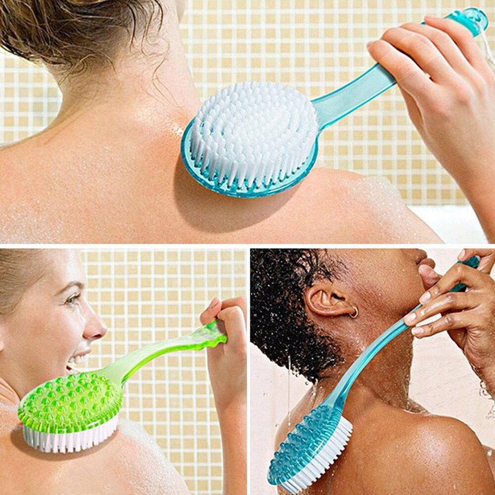 Langstieligen Pinsel Kunststoff Bad Dusche Zurück Wäscher Haut Reinigung Pinsel Körper Für Bad Zubehör Reinigung Bad Werkzeug