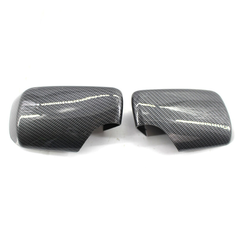 Pair of Car Rear View Mirror Shell Cover Cap Carbon Fiber Fit for BMW E46 98-05