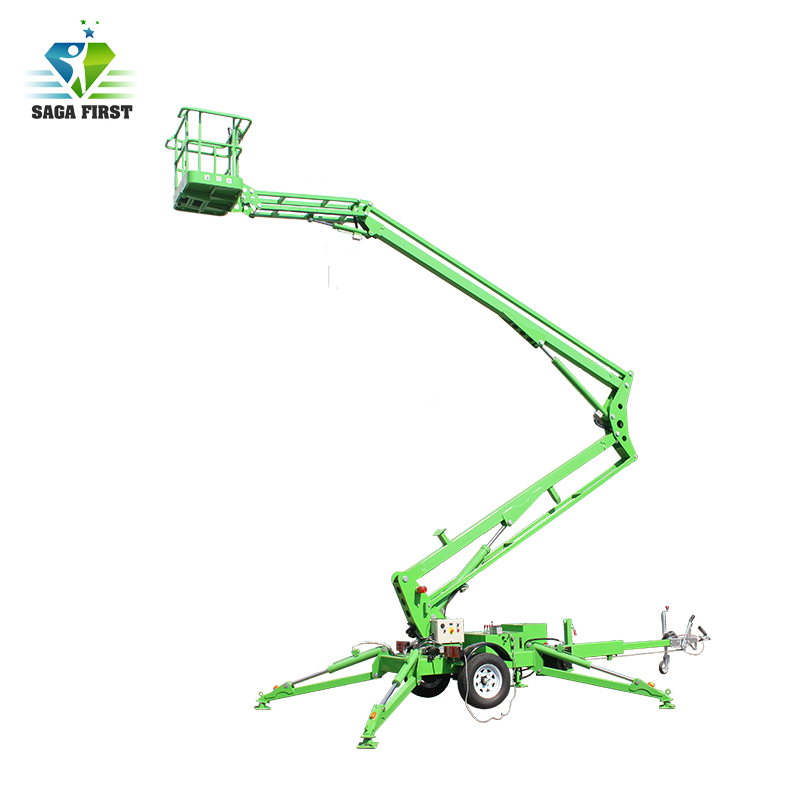 Aerial Trailing Spider Lift/trailer Towable Articulated Boom