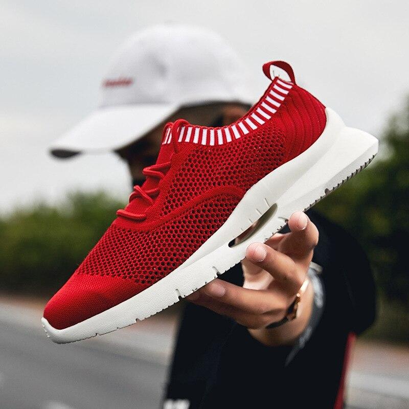 Hommes mode rouge blanc chaussures chaussures décontractées respirantes maille hommes jeunes femmes Cool baskets S2577-2579 C1