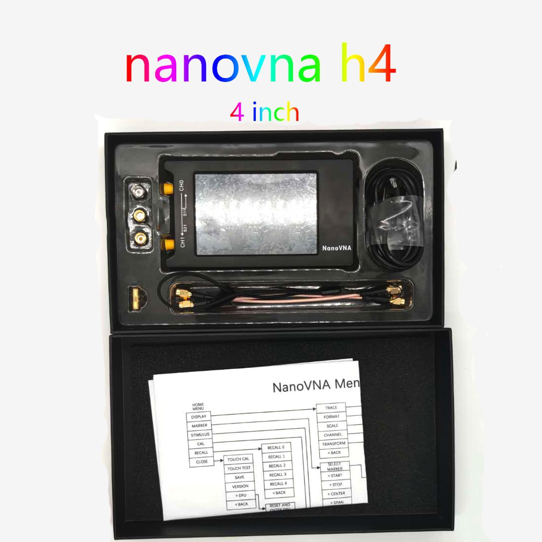 NanoVNA-H4 4 дюйма вектор сетевой анализатор антенны анализатор коротковолновое MF HF VHF UHF талант