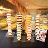 Fastest delivery Acrylic Donut StandClear Doughnut Display Stand HolderDonut Tree Stand for Birthday Party Wedding