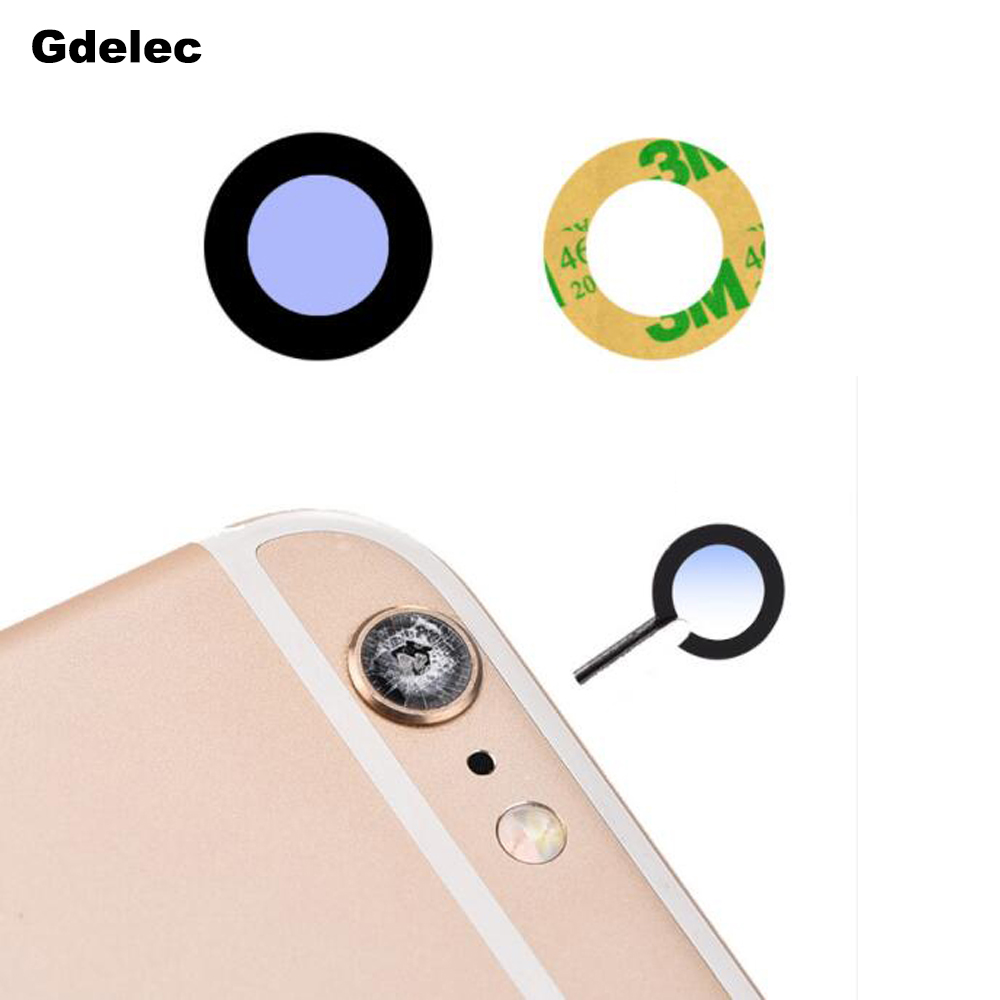Original Black Glass Camera Lens with Tape Replacement for Apple iPhone X XS Max XR 8 7 6s 6 plus Sapphire Crystal Camera Lens image