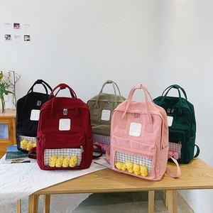 School Backpack Women 2019 Brand Female Cute Cartoon Transparent Students Schoolbag Shoulder Bags Fashion Canvas Backpacks Bag