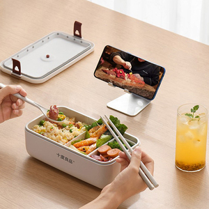 220V Electric Lunch Box Portable Water-free Lunch Heating Box Constant Temperature Heating Food Warmer Ceramic Liner For Office