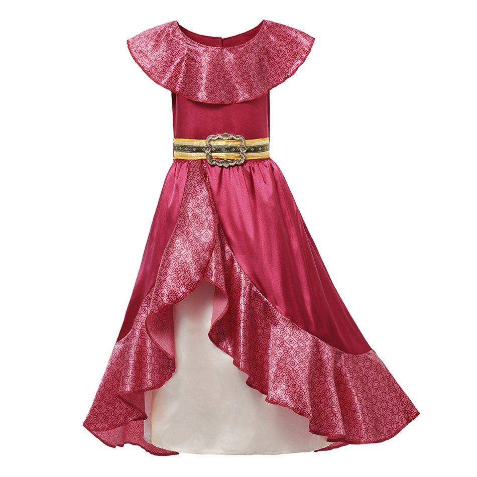 H4c392e1b88254507bda3113e6cb563f7o - Fancy Baby Girl Princess Clothes Kid Jasmine Rapunzel Aurora Belle Ariel Cosplay Costume Child Elsa Anna Elena Sofia Party Dress