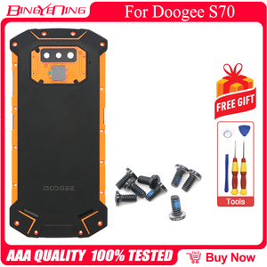 Image 4 - New Battery Case Protective Battery Case Back Cover+Power Volume Cable+Fingerprint Cable+Camera Glass For Doogee S70/S70 Lite