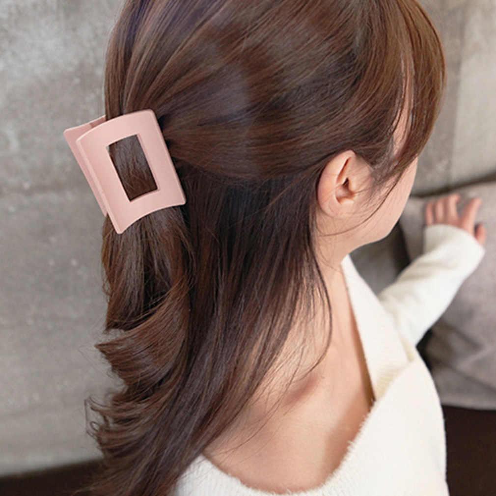 Простые квадратные большие Когти для волос, цветные акриловые крабы для волос для женщин и девочек, модная детская одежда для волос, украшения для волос, ювелирные изделия