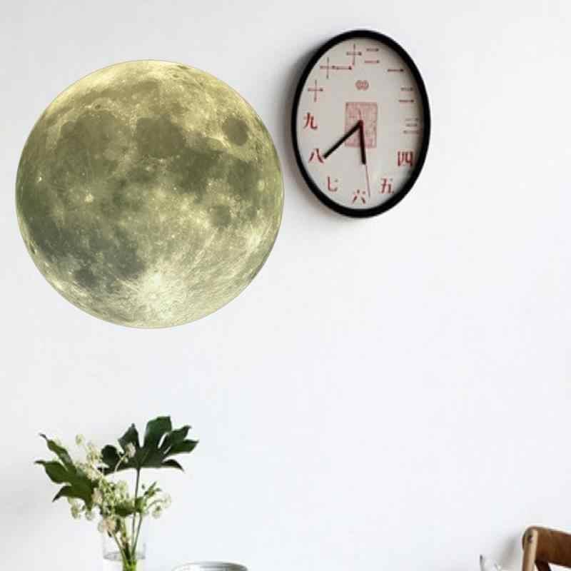 ثلاثية الأبعاد ملصقات جدار مضيئة القمر ملصق غرفة المعيشة الديكور غرفة الاطفال ديكور غرفة نوم ديكور المنزل ملصقات جدار دروبشيبينغ