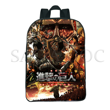 Attack on Titan 12 Inch Kids Backpacks Anime 3D Backpack Boys Girls School Bags Children Book Bag Mini Daily Backpack Mochila hot style canvas drawstring bags animation jojo bizarre adventure assassin s creed attack on titan gravity falls backpack bag