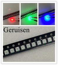 200 pces 1206 (3227) rgb comum ânodo smd led grânulo tricolor vermelho verde azul ultra brilhante chip diodo emissor de luz lâmpada smt