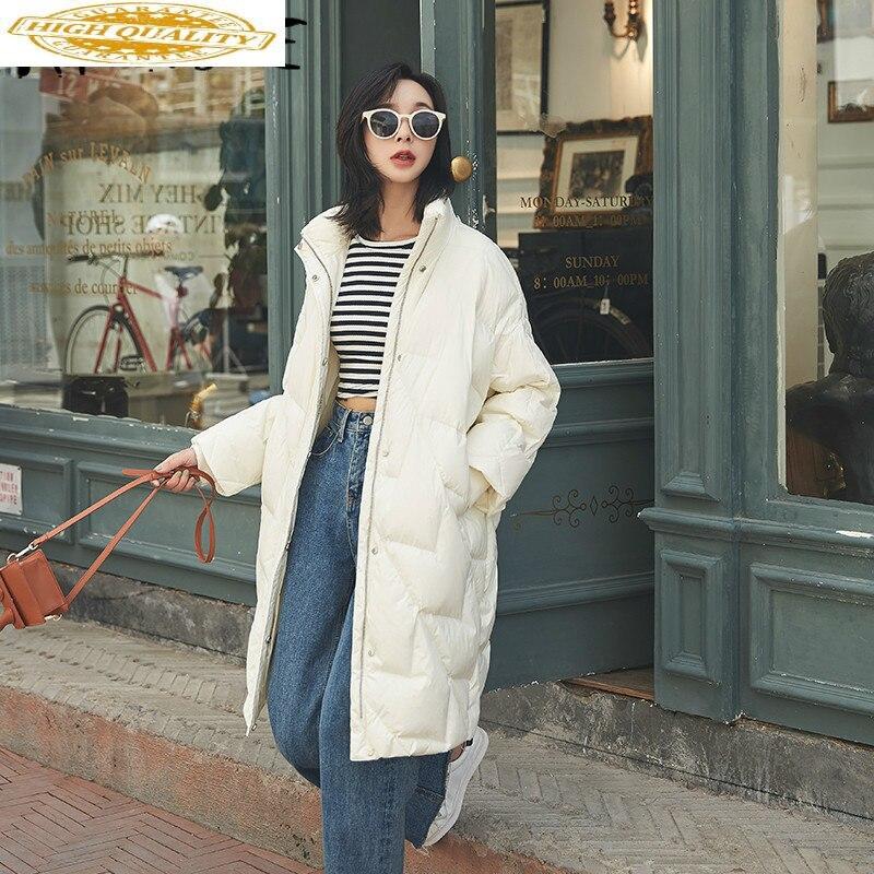 White Duck Down Jacket Women Winter Coat Women Oversized Down Coat Puffer Jacket Warm Parka Chaqueta Mujer 1839 YY1411
