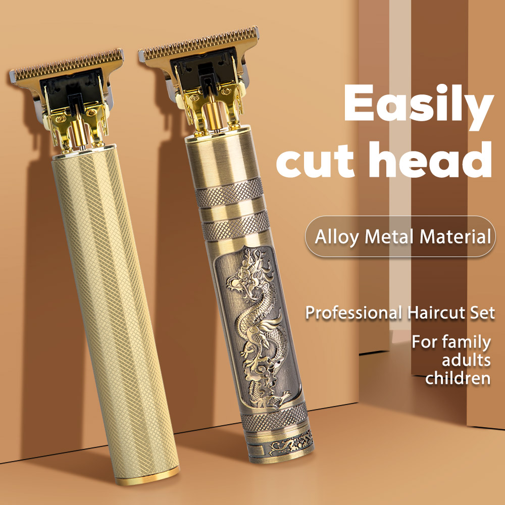 Corte de cabelo profissional para homens máquina de corte de cabelo elétrico sem fio aparadores de cabelo barbeiro conjunto barba barbear t-outliner