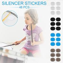 48 PCS Silicone Self - Adhesive Drums Snare Mute Silencer Dumb Cushion Damper Gel Pad Drum Damping Non Toxic