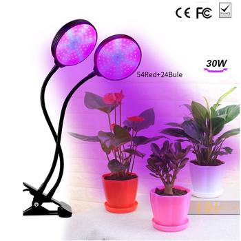 Full spectrum LED clip plant growth lamp 30W timing 5 file dimming waterproof USB plant growth lamp for seedlings growth flowers
