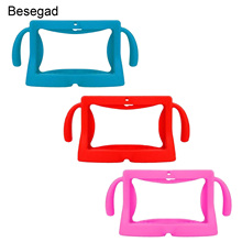 Besegad Universal 7 Inch Tablet Protective Case Soft Silicone Cover Skin Shell Protector with Carry Handles for Children Kids
