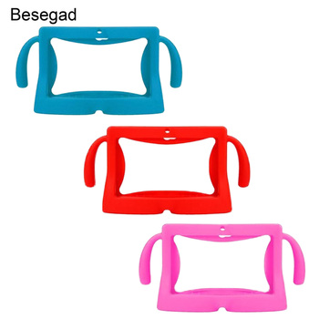 Besegad Universal 7 Inch Tablet Protective Case Soft Silicone Cover Skin Shell Protector with Carry Handles for Children Kids - discount item  50% OFF Tablet Accessories