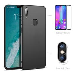 На Алиэкспресс купить чехол для смартфона matte back cover case + full tempered glass + camera protector for vivo v17 neo s1 v15 pro v11 y19 y17 y12 y11 y93 y91c z5 u3x