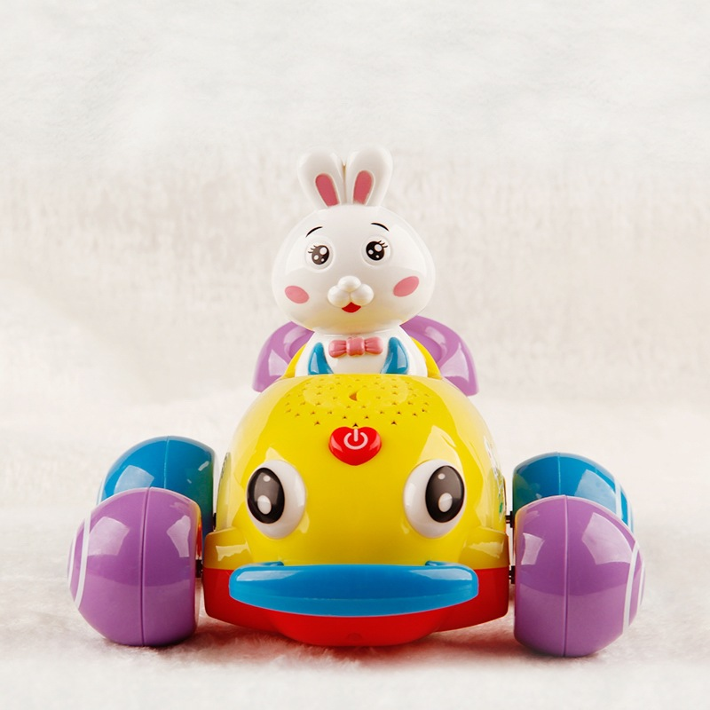 Baby Toys Educational Electric Car Music Light Projection E-Bike CHILDREN'S Toy Car Music Car