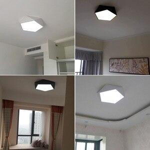 Image 5 - Arte geometrica creativa illuminazione a Led lampada da soffitto per soggiorno lampada studio corridoio balcone illuminazione a soffitto