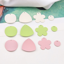 4 pcs new design hot-sales alloy frosted spray paint irregular disc pendant earrings for women and girls diy jewelry accessories
