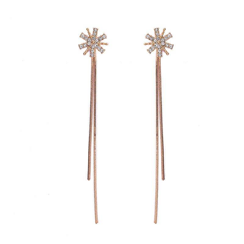 Fashion Korean tassel earrings long style earrings temperament earrings wholesale