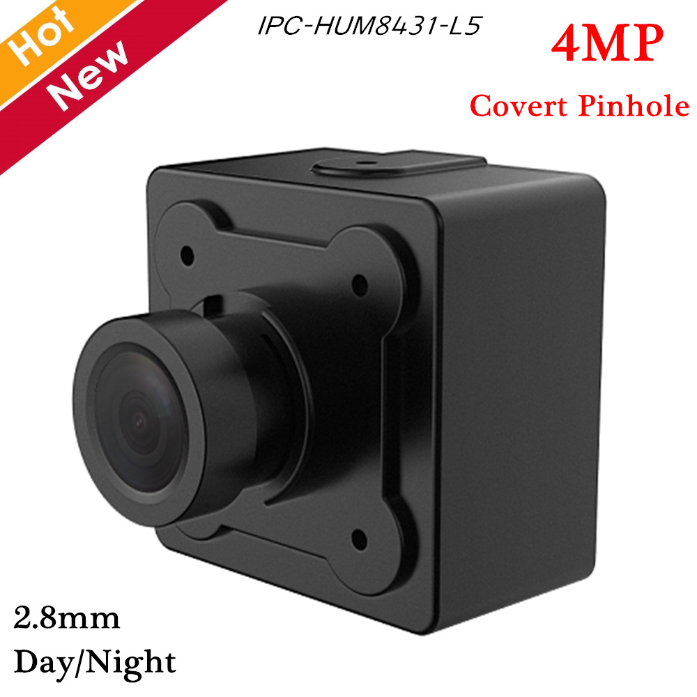 Dahua 4MP Covert Pinhole Camera Lens Unit 2.8mm Fixed Pinhole Lens WDR Day/Night Require A Main Box To Work Together