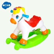 2-in-1 Rocking/Riding Pony with Music & Light Sliding Rocking