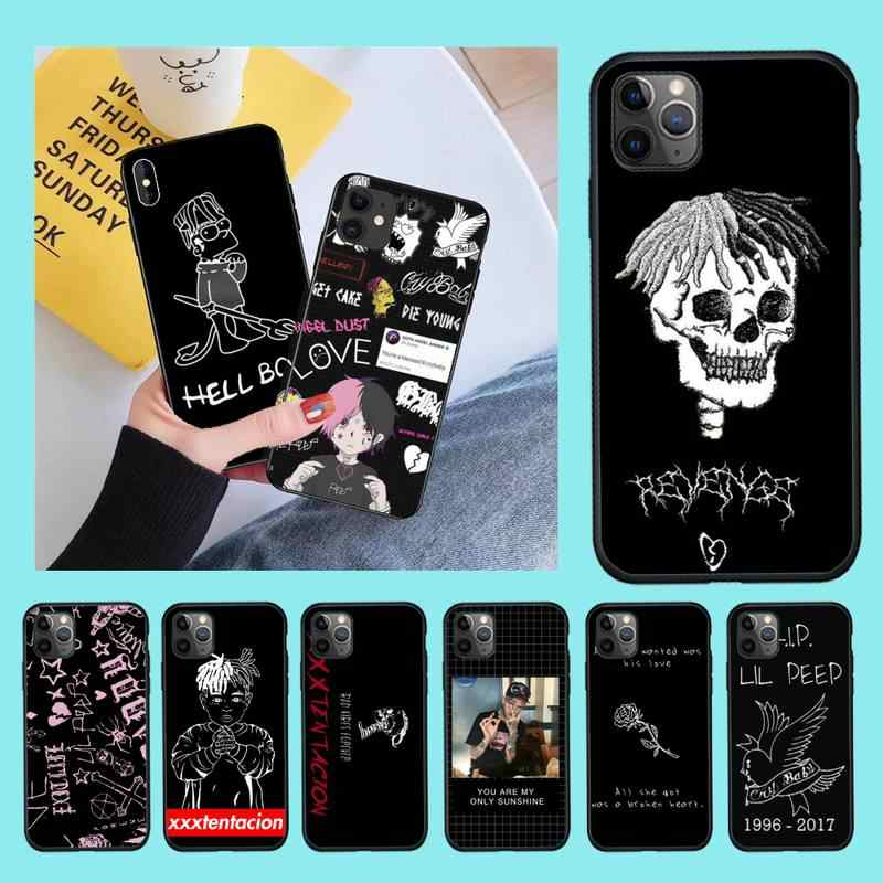 NBDRUICAI Xxxtentacion Bad vibes forever lil peep Bling Phone Case for iPhone 11 pro XS MAX 8 7 6 6S Plus X 5S SE 2020 XR case
