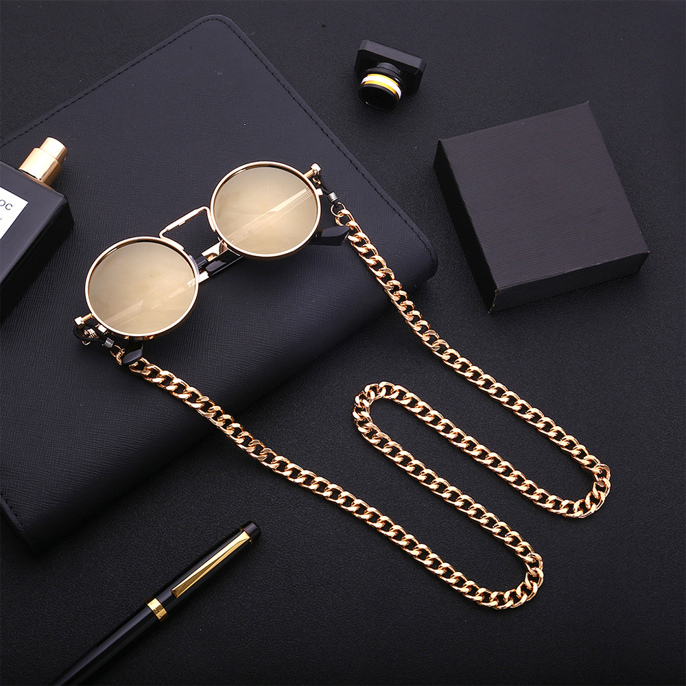 Fashion Chic Womens Gold Silver Eyeglass Chains Sunglasses Reading Beaded Glasses Chain Eyewears Cord Holder Neck Strap Rope D40