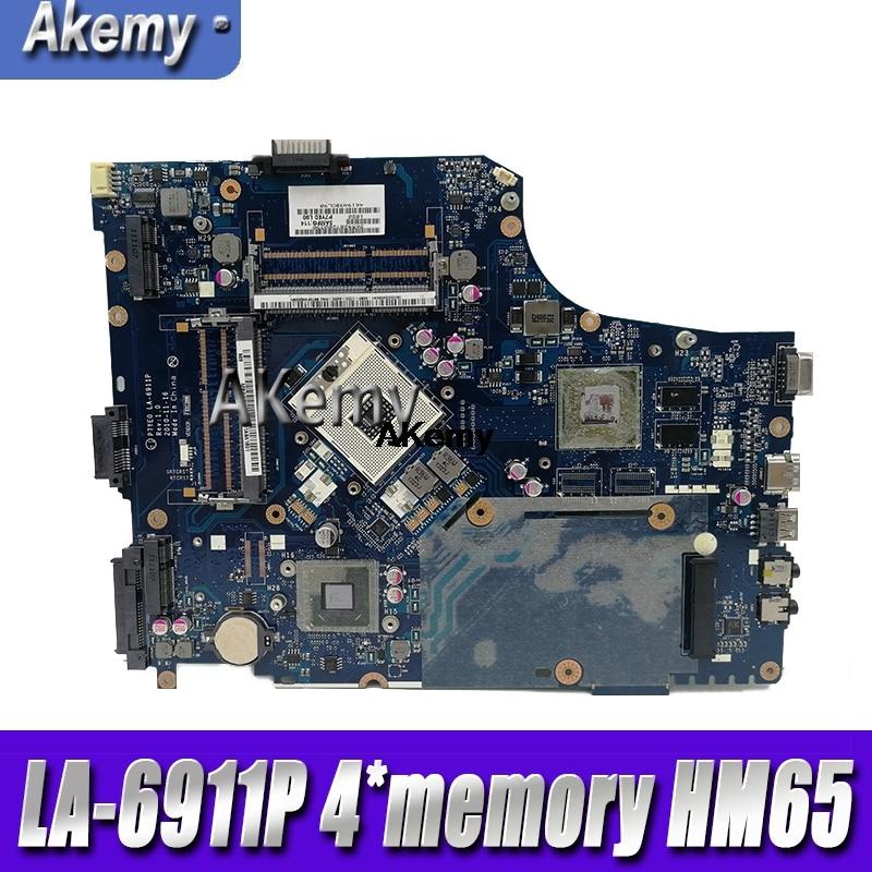 P7YE0 LA-6911P Laptop Motherboard For Acer Aspire 7750 7750G MBRMK02001 MB.RMK02.001 4*memory HM65 DDR3 100% Tested